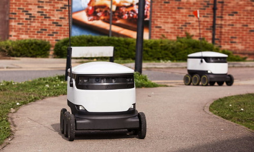Starship Technologies delivery robots in the field.